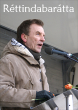 Hördur Torfa, en una manifestación.jpg